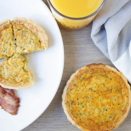 Broccoli & Cheddar Quiche with MustKetch